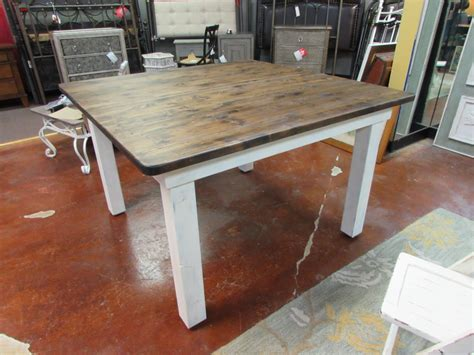 square farm table a distressed square farmhouse table a door chalkboard