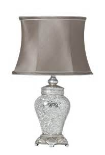 Bedroom lamps small silver sparkle mosaic lamp