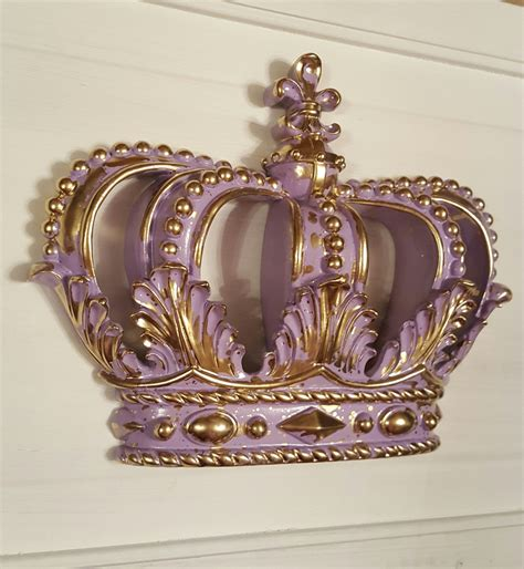 crown decor lavendar gold crown wall decor nursery decor crib crown canopy