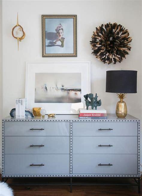 gray dresser  juju hat contemporary bedroom