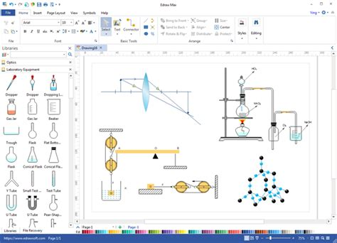 scientific drawing software sciencedraw create science diagram easily