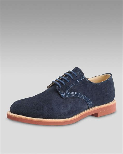 walkover shoes walk suede derby navy in blue for navy lyst