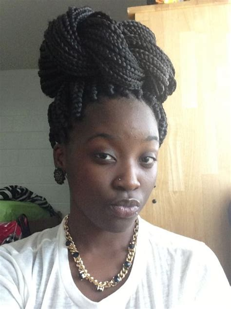 box braid bun hairstyle 19 best images about summer do on pinterest updo box