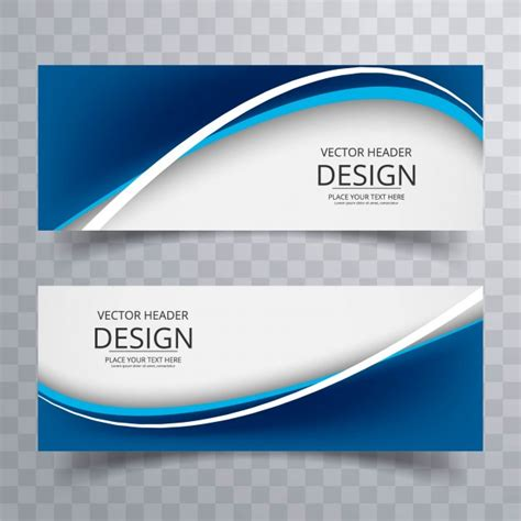 banner design eps format free download dark blue wavy banners vector free download