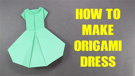 How To Make Clothes From Paper - how to make origami dress version 2 easy origami