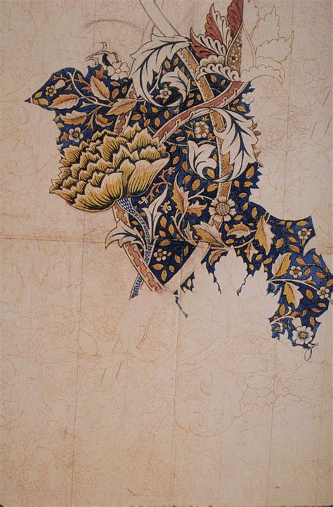 where do layout artist work 威廉莫里斯花卉纹样背景壁纸植物设计欣赏 2 绘画欣赏 设计欣赏 素彩网