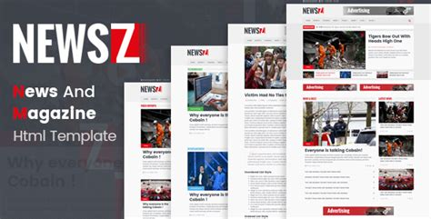 Newsz News Magazine Html Template By Codeboxr Themeforest News Magazine Template
