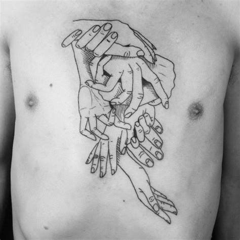 tattoo chest hand intertwined hands chest tattoo best tattoo design ideas