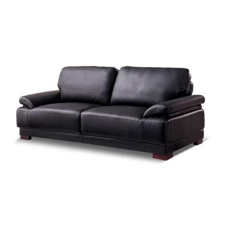canape cuir 3 place canap 233 convertible 3 places en cuir noir glam achat