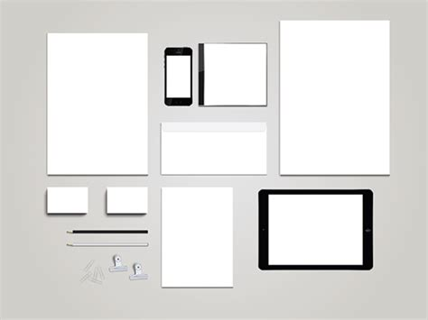 how to mock up design in illustrator blank stationary template mockup for illustrator on behance