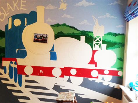 the tank wall mural joanna perry top mural artist painting murals across the uk the tank engine