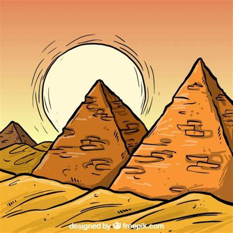 imagenes egipcias animadas dibujado a mano pir 225 mides egipto descargar vectores premium
