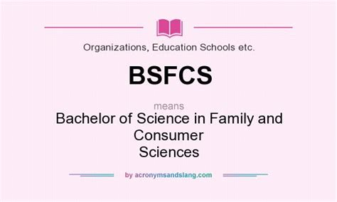 bsfcs bachelor of science in family and consumer