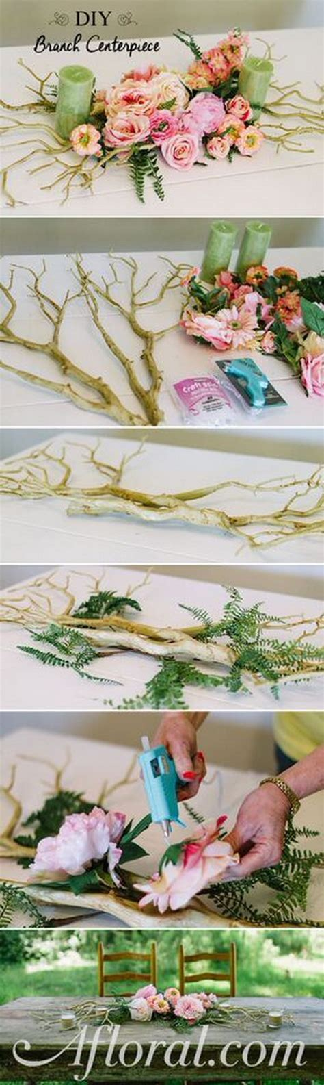 branch centerpiece diy awesome diy wedding centerpiece ideas tutorials