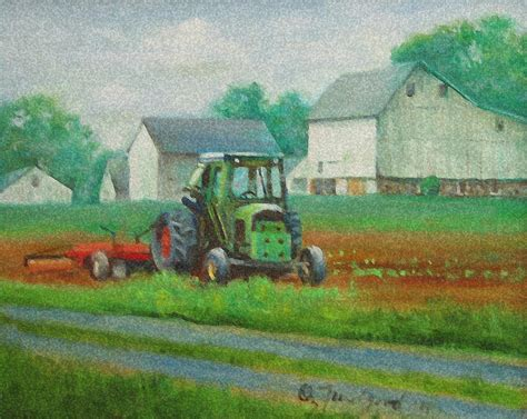 tractor painting the green tractor painting