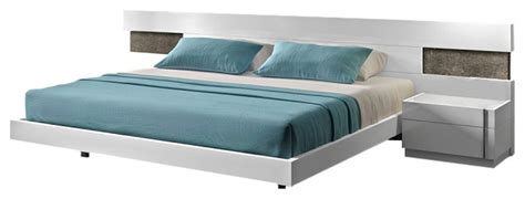 Amora Premium Quality amora premium bedroom set in white lacquer finish contemporary bedroom furniture sets by