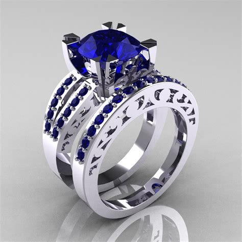 Blue Diamond Wedding Ring Sets   Wedding Ideas