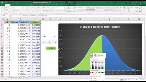 excel tutorial normal distribution how to plot normal distribution curve in excel 2007 how