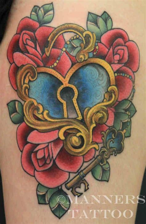 heart lock rose tattoo best 25 lock ideas only on lock