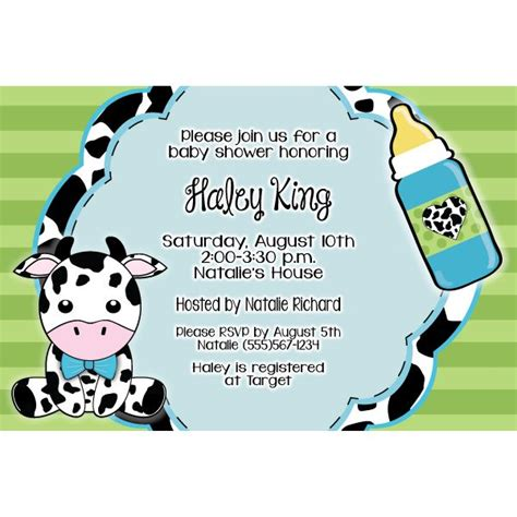 Cow Baby Shower by Cow Baby Shower Invitation Baby Shower Ideas