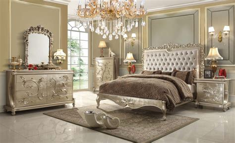 Victorian Bedroom Set | pearl victorian design bedroom set from homey design