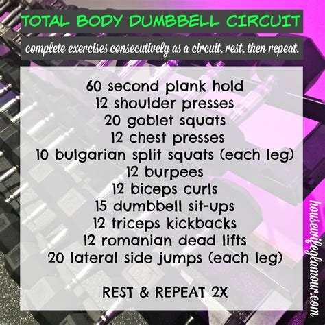 30 min total dumbbell strength circuit in