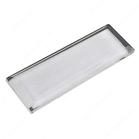Adhesive Mirror Door Pulls - contemporary flat pull in acrylic richelieu hardware