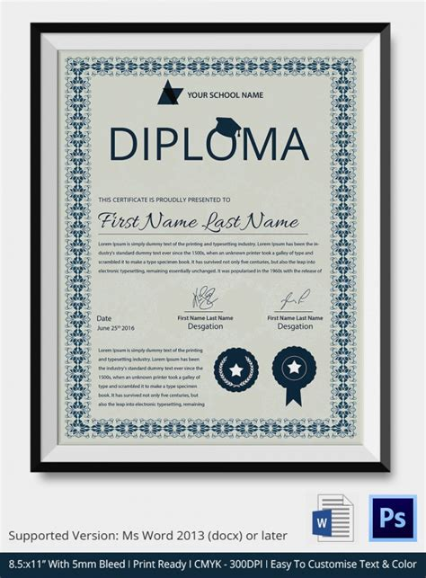 School Certificate Templates   22  Download Documents in
