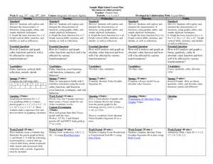 high school math lesson plan template high school lesson plan forms high school lesson plan