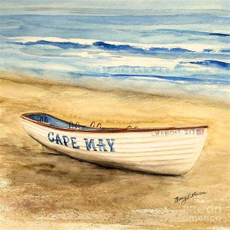 patterson boat company cape may lifeguard boat 2 painting by nancy patterson