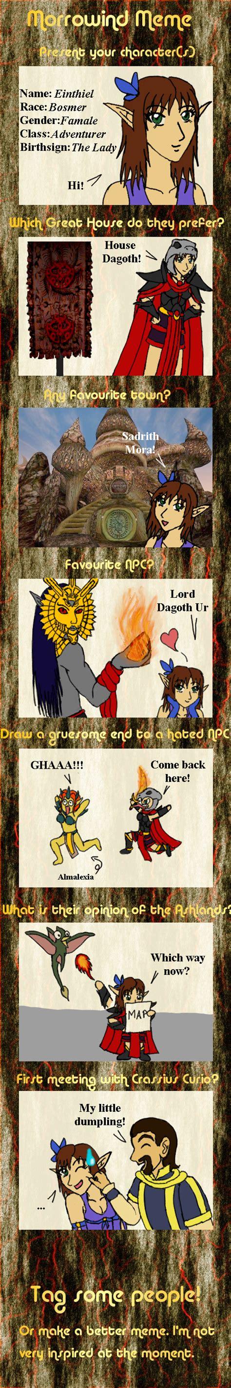 Morrowind Memes - morrowind meme einthiel by gothawolf on deviantart