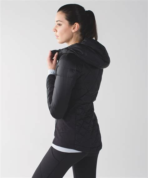 Flowink Hoodie Combi Runnink Metric Jacket Lululemon For A Run Jacket Black Lulu Fanatics