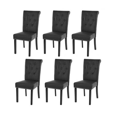 chaises lot de 6 lot de 6 chaises de salle 224 manger design marron pieds