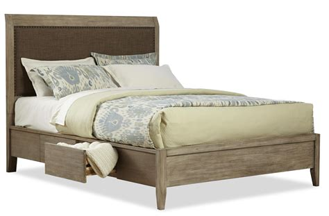 upholstered storage bed king cresent fine furniture corliss landing contemporary king