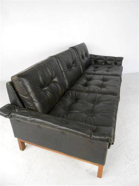 danish leather sofa vintage vintage danish style black leather sofa for sale at 1stdibs