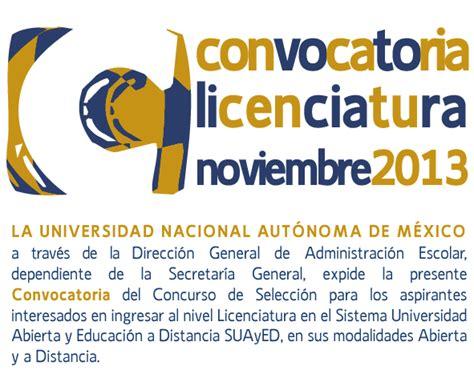 convocatoria para servicio de convocatoria concurso noviembre 2013 unam