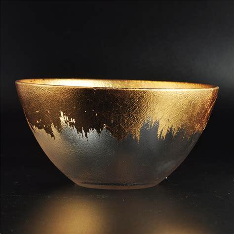 Kaca Deco In mangkuk kaca emas hiasan rumah