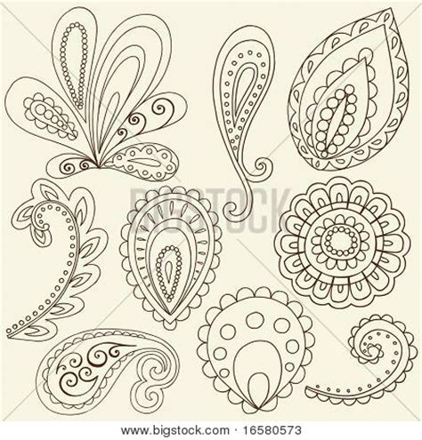 abstract pattern doodles hand drawn abstract henna paisley vector photo bigstock