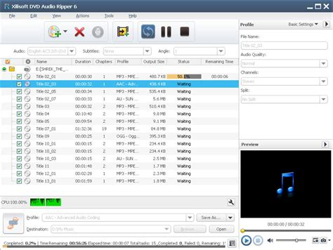 audio format on dvd xilisoft dvd audio ripper extract sound tracks from dvds