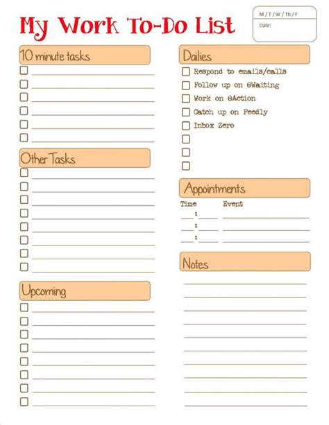 to do list template for work daily to do list for work use printables
