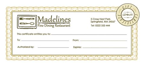 printable gift certificates for restaurants free photography gift certificate template psd joy