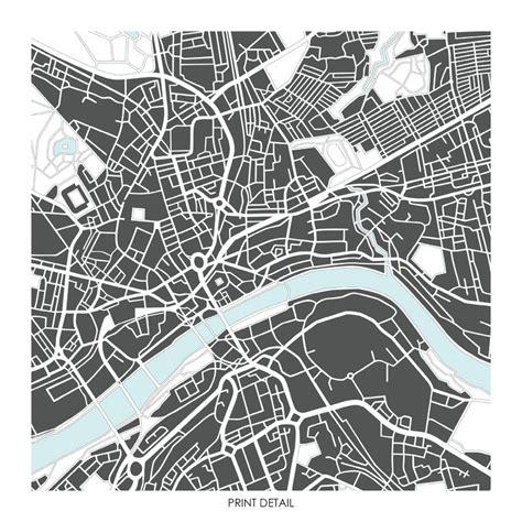 world city map prints newcastle map prints limited edition prints