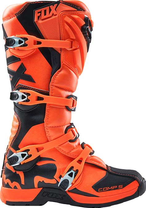 orange motocross boots 2017 fox racing comp 5 boots mx atv motocross off road