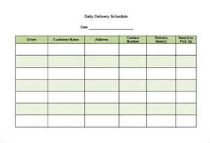 Delivery Schedule Templates ? 12  Free Word, Excel PDF