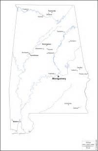 Alabama Blank Map by Alabama Free Map Free Blank Map Free Outline Map Free
