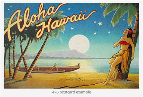 printable hawaiian postcards 20 free printable postcard templates utemplates