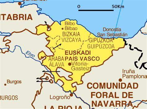 españa pais vasco kaart spanje vakantie provincies kaart baskenland en