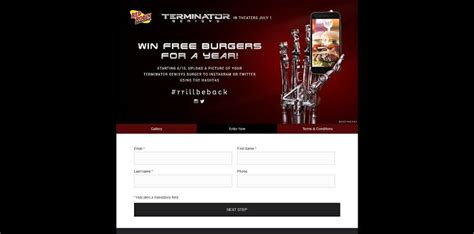 Red Robin Sweepstakes - red robin s terminator genisys burger contest