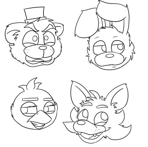 Fnaf 1 Coloring Pages by Fnaf Free Colouring Pages