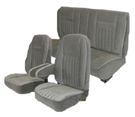 bench bucket seats 87 91 ford bronco full size seat upholstery complete set